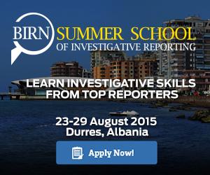 BIRN Summer School of Investigative Reporting 2015